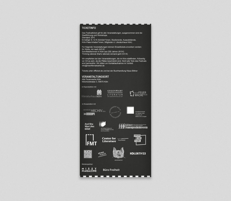 Literaturfestival | Flyer | Insert female Artist | Förderer