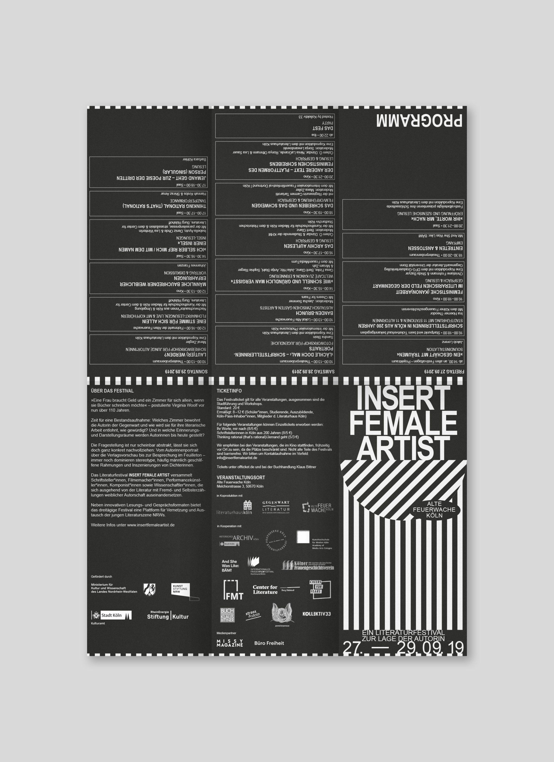 Programmflyer |Literatur | Female | Design