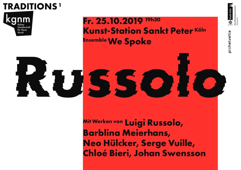 Russolo | Konzert |Köln |Musik | Design