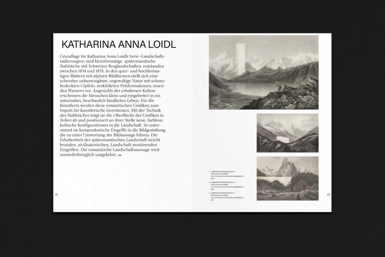Katalog | Typografie | Grafikdesign | Kunst | Doppelseite