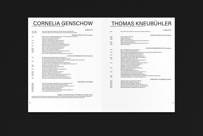 Katalog | Typografie | Grafikdesign | Kunst | Innenteil
