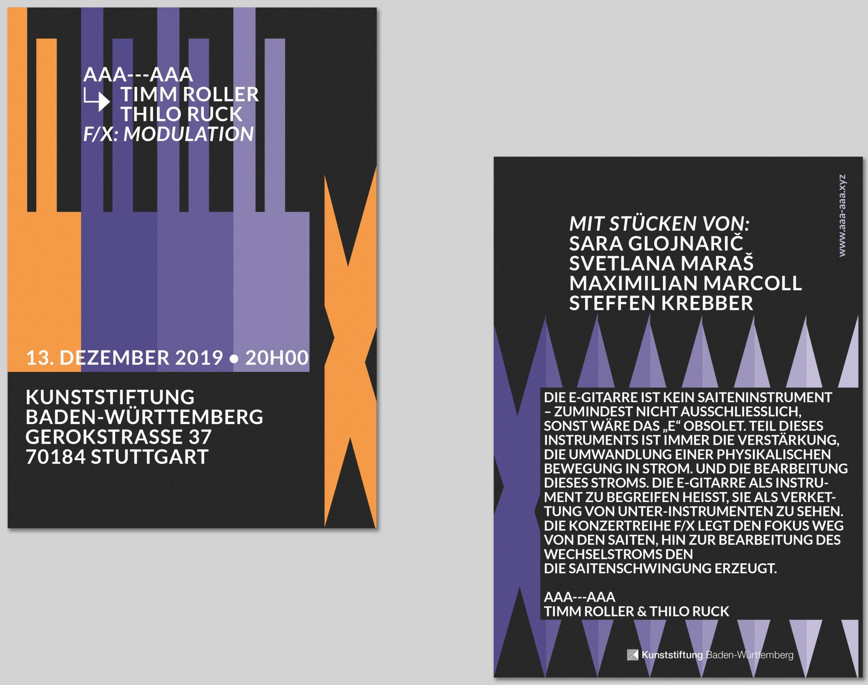 Flyer |Grafikdesign |Köln |Print |Neue Musik