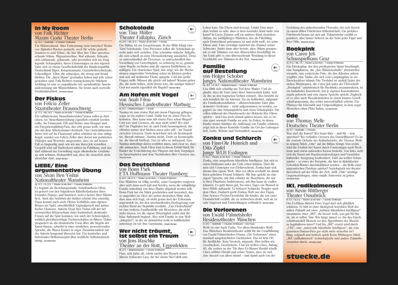 Programmflyer | Köln |Theatertage | Kultur