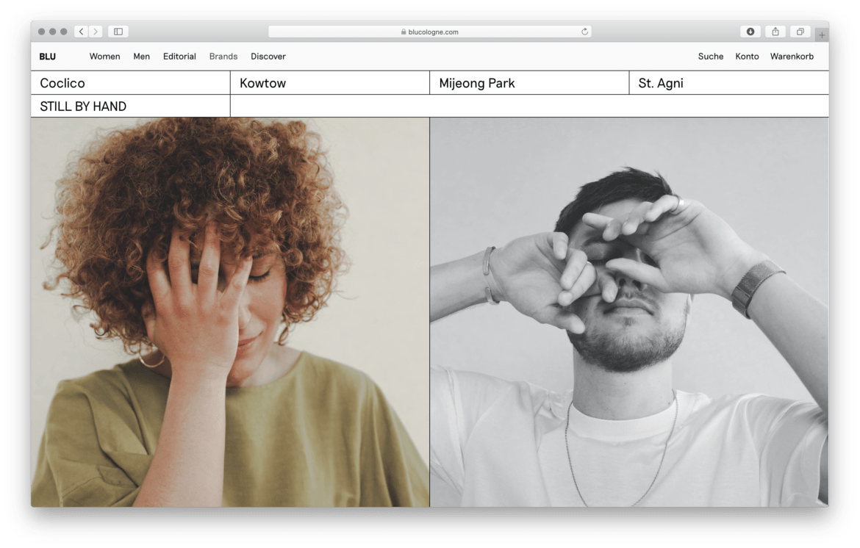 Webshop |Slowfashion | Shop |Cologne | Landingpage
