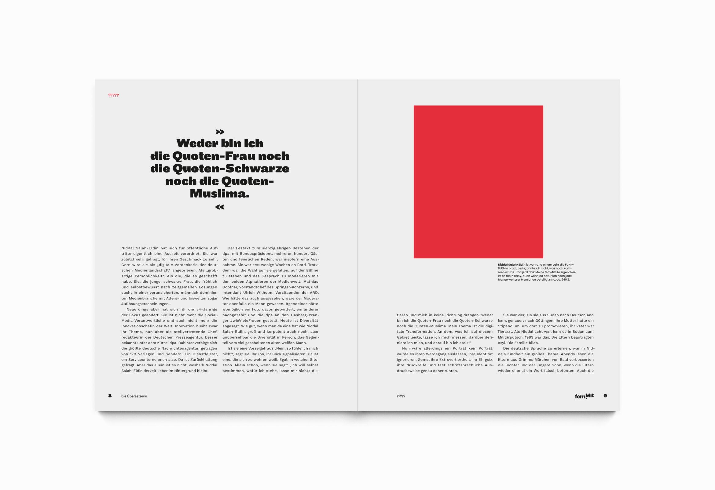Editorialdesign | Raster |Typografie | Flächen