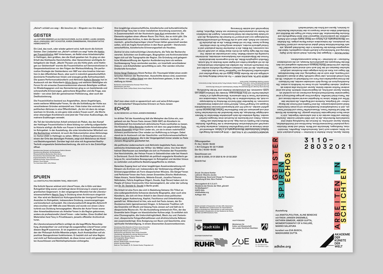 Flyer | Kunst |Programm |Köln
