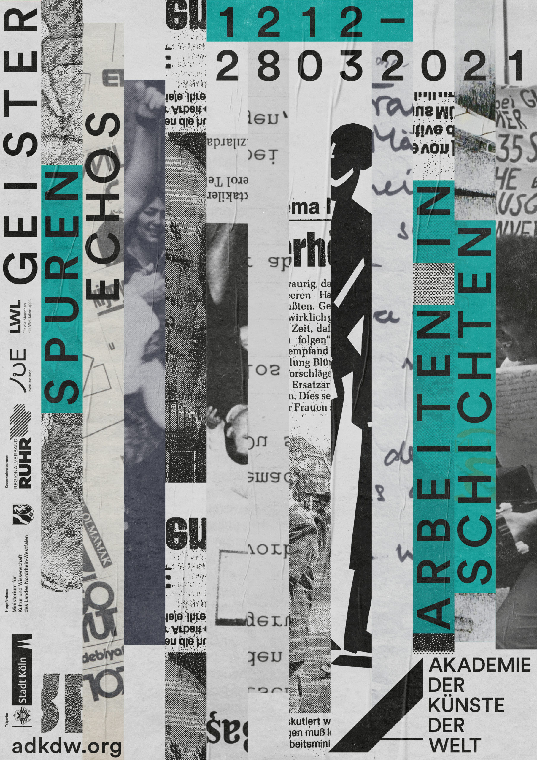 Plakat |Spuren | Strasse |Köln