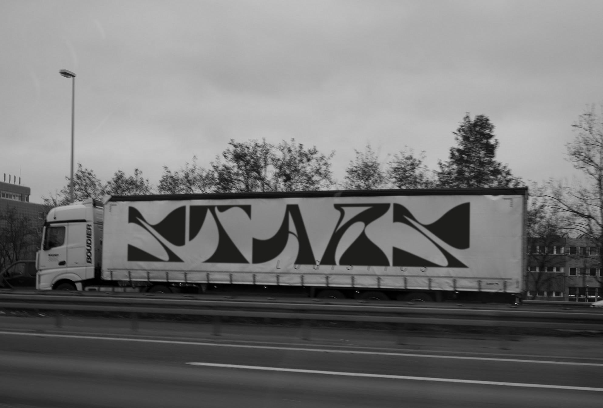 Autobahn | Schrift | LKW