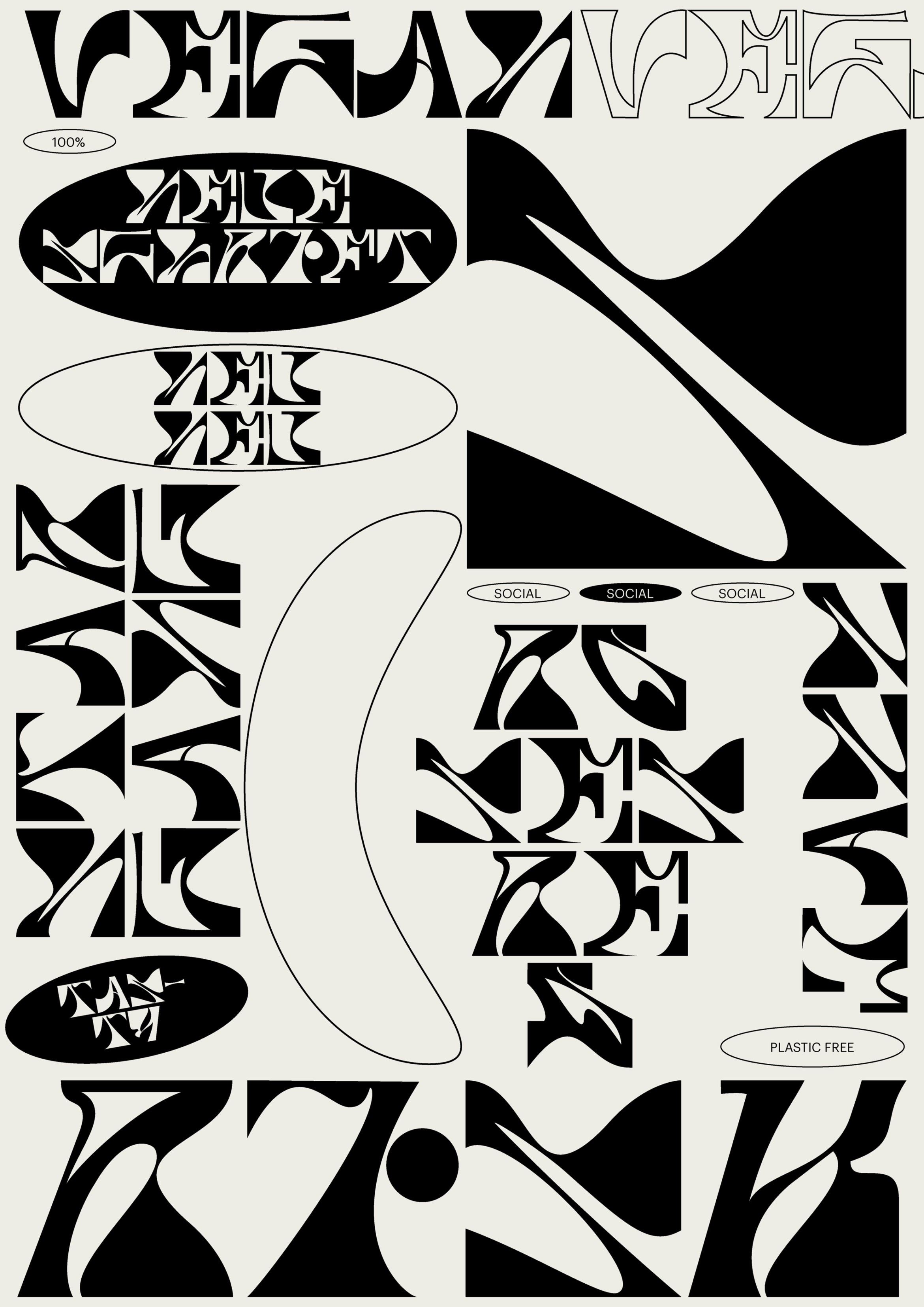 Schrift | Specimen | Plakat | Buchstaben | Abstract