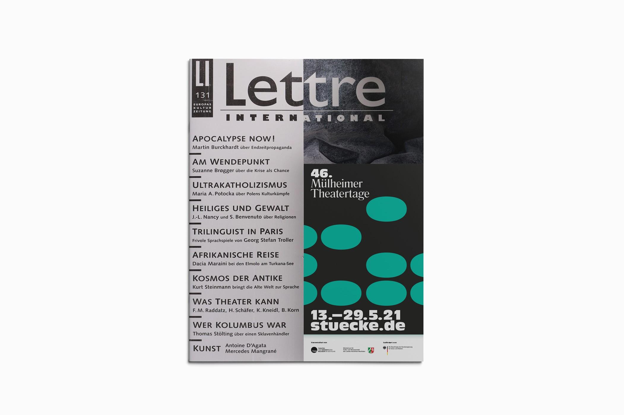 Lettre   Anzeige   Theater  Kultur