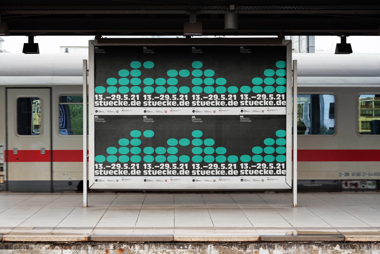 Poster  Bahn  Design   Stadtbild