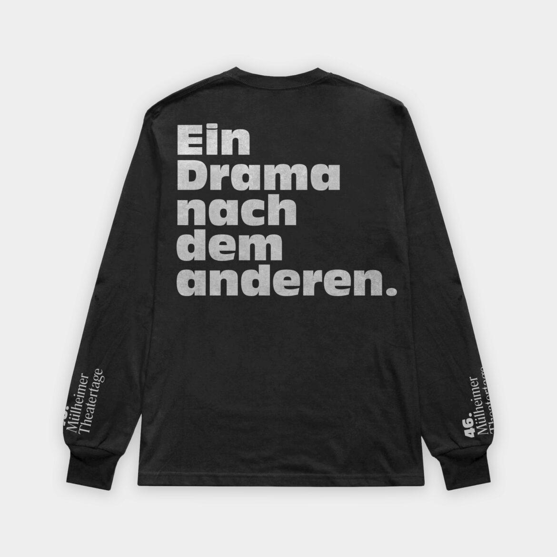 Longsleeve   Black   Theater  Siebdruck   Drama