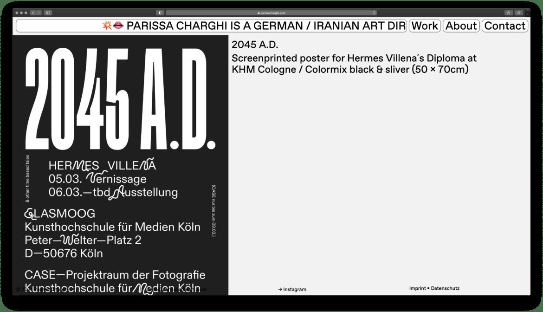 Parissa Charghi   Artdirector   Portfolio   ABC Dinamo