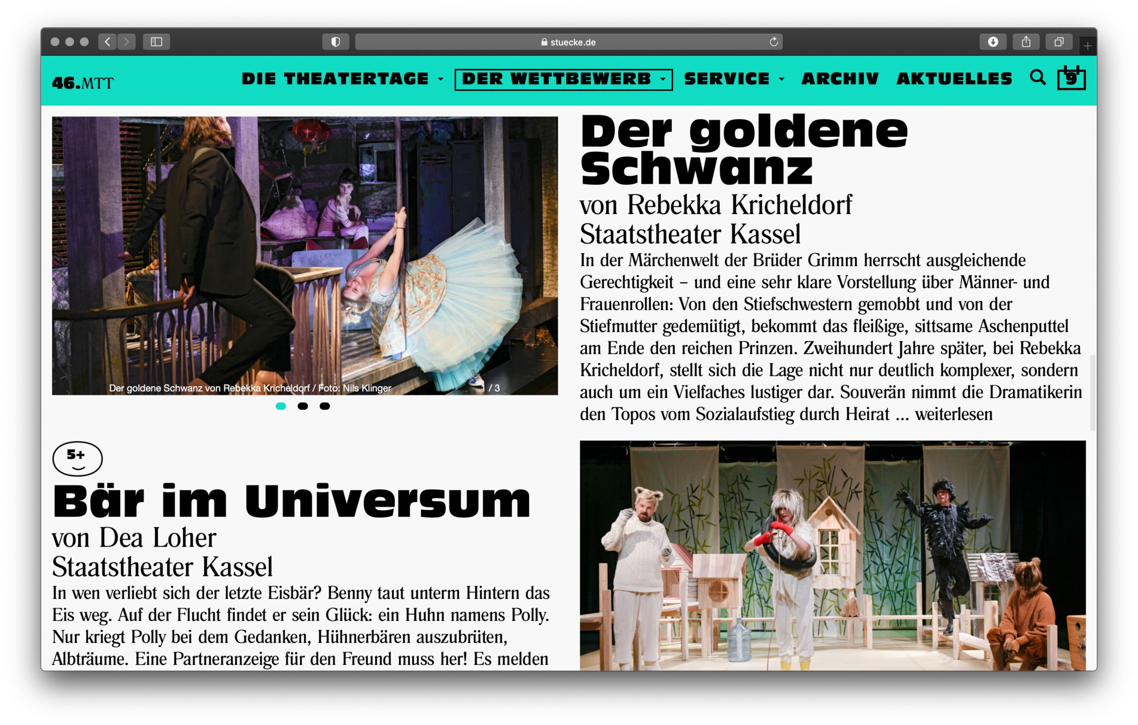 Website | Design | Theater | Kleider