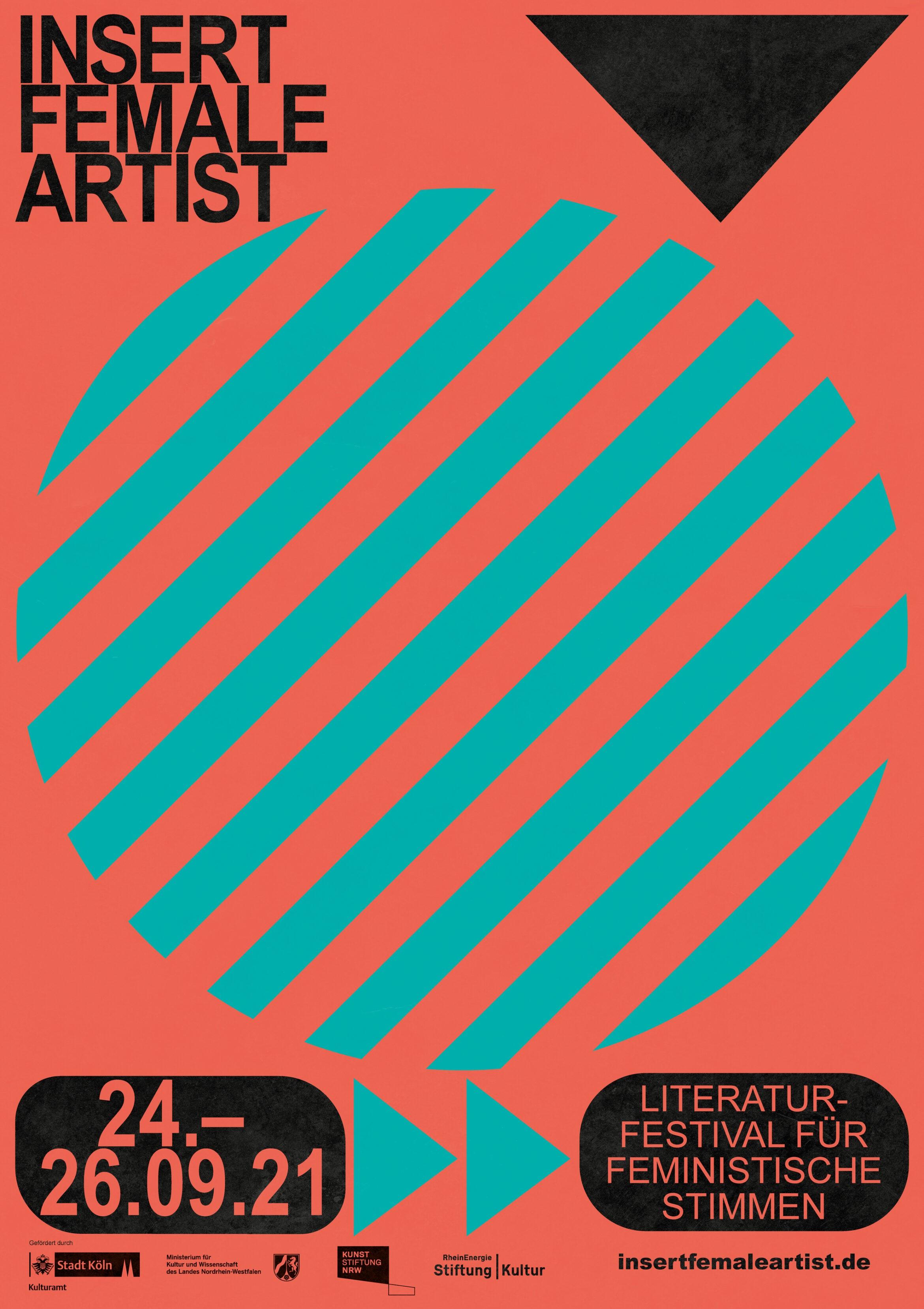 Insert Female Artist | Plakat | Literaturfestival | Astract