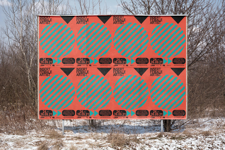 Insert Female Artist | Plakat | Literaturfestival | Billboard