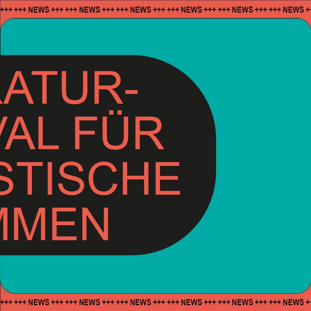Insert Female Artist | Plakat | Literaturfestival | Socialmedia