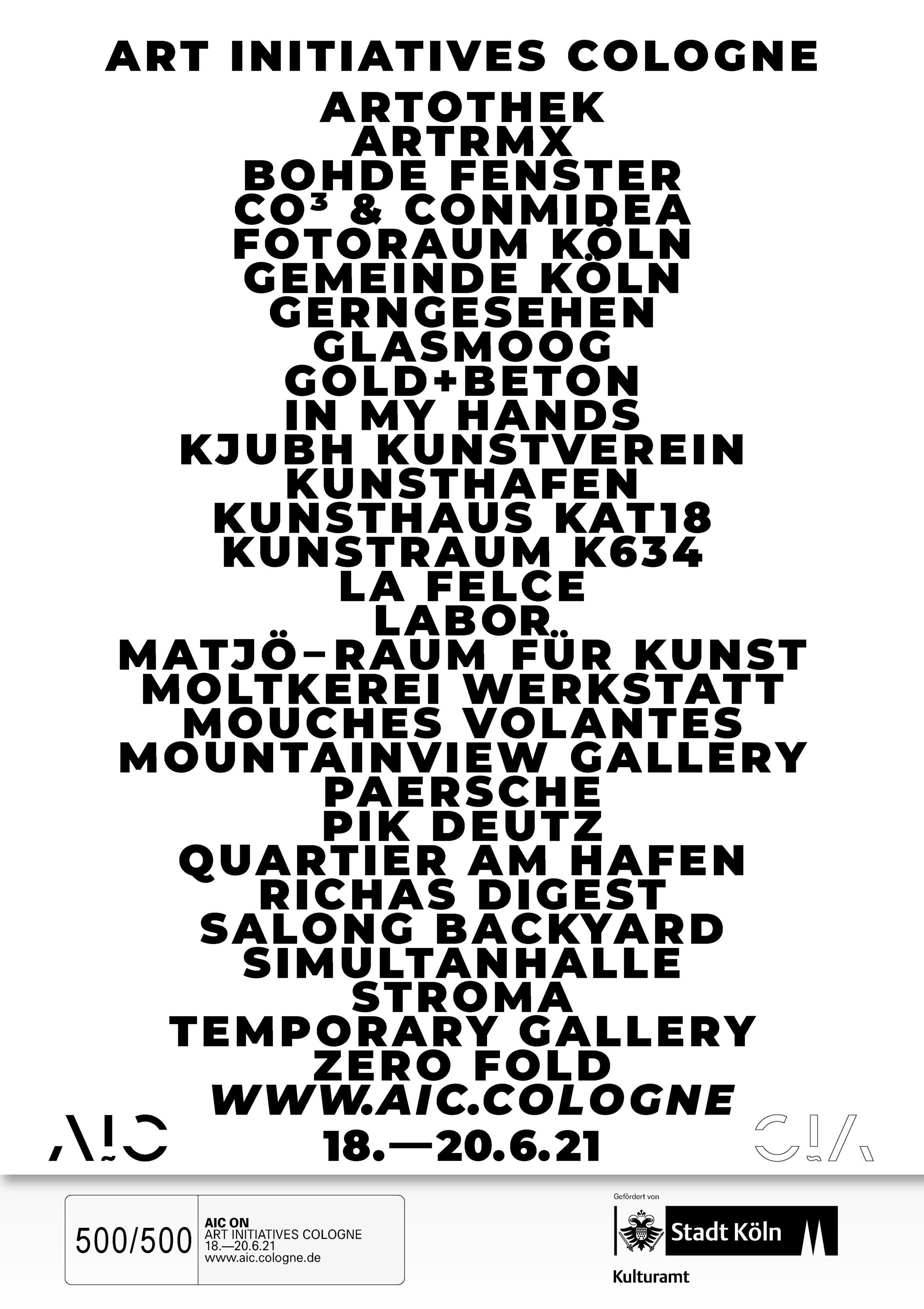 Indexplakat |AIC ON | Plakat |Typografie