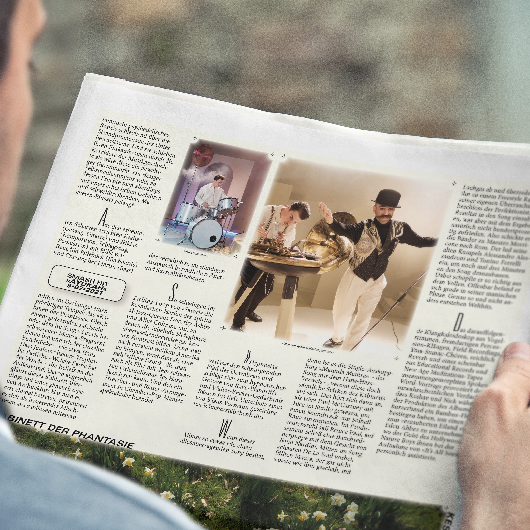 Mann |Zeitung | lesen