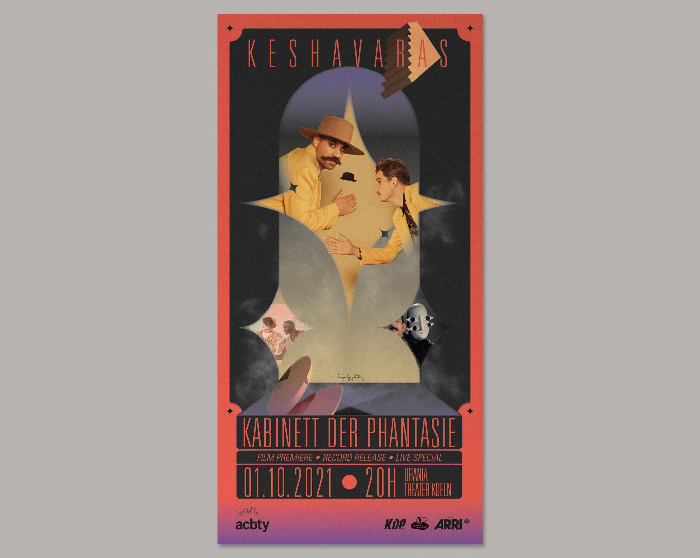 Flyer | Schrift | Show | Treppe |Maske