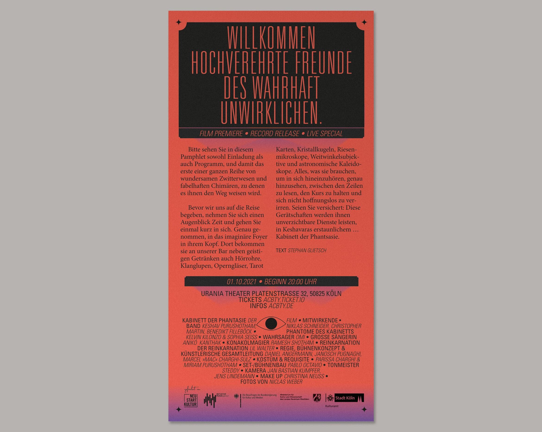 Flyer | Schrift | Show | Konzert