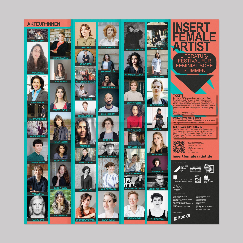 Flyer | Spalten | Bunt | Festival | Feminismus