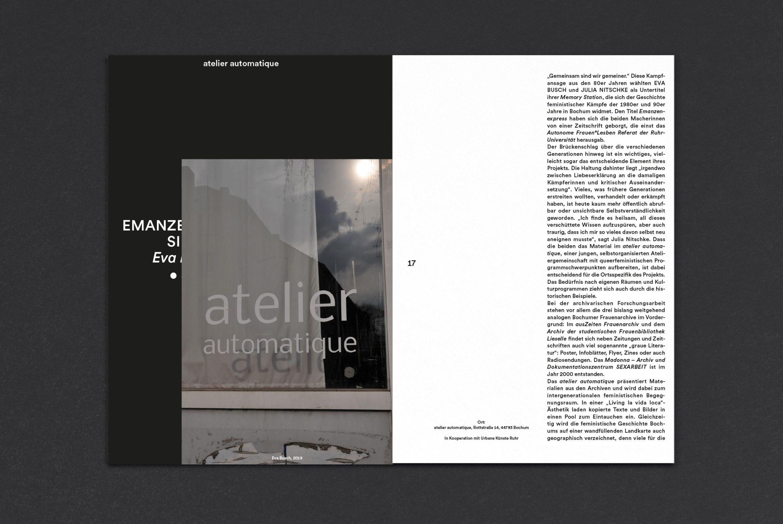 Editorial Design | Broschüre | Medium | Kultur | versetzte Seiten