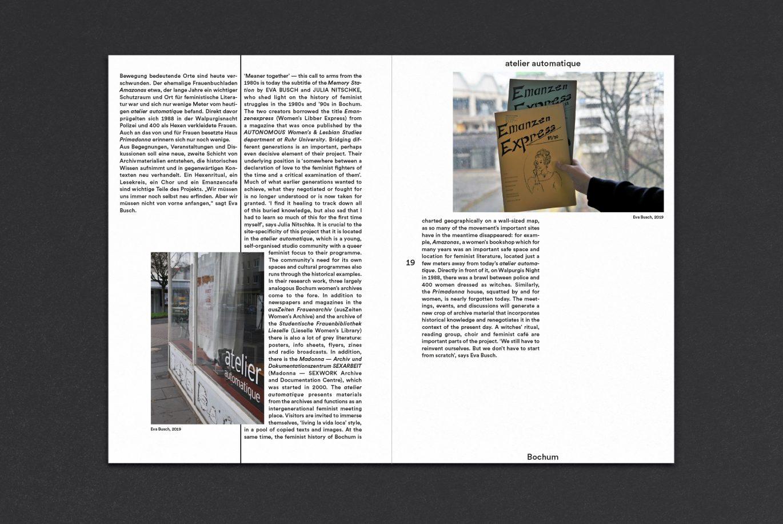 Innenseiten | Doppelseite | Auszug Booklets | Bild Textebene | Design