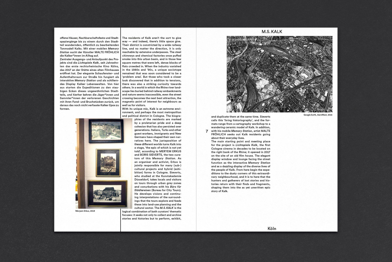 Booklet | Innenseite | Editorial | Kunst und Kultur