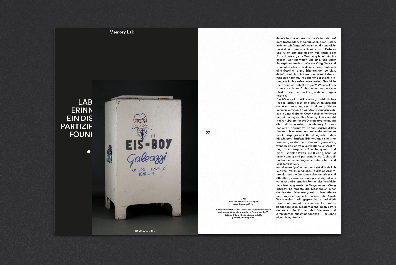 Booklet Design | verkürzte Seiten | Programmheft | Bild und Schrift