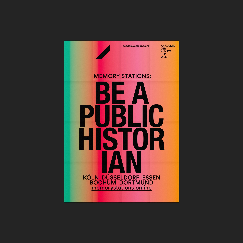 Programmflyer | Design Spring 2019 | Be a public historian | Faltplakat | Faltblatt