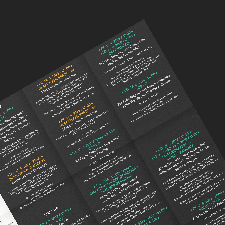 Programmflyer | Be a public historian | Faltplakat | Detail | Raster