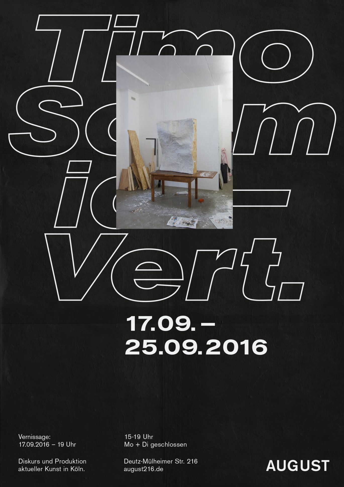 Timo Schmidt | Plakat |Design | Schrift |Schwarz