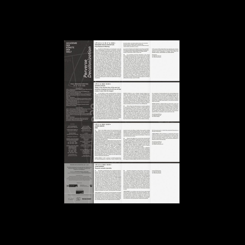 Flyer Rückseite | Programm | Programmheft | Kunst und Kultur