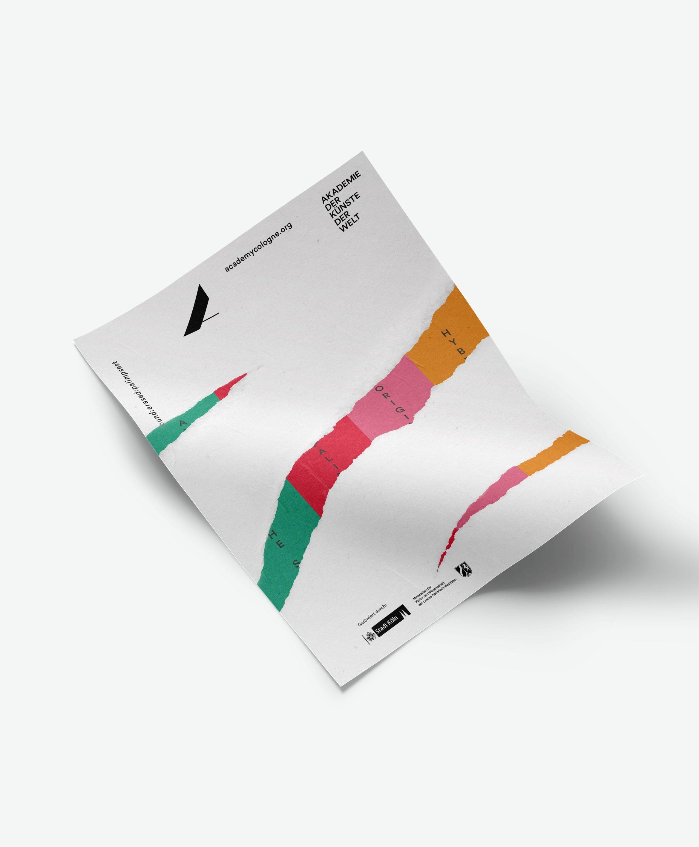 Abstrakt | Kunst und Kultur | Konzeption | Farbenreich | Plakat