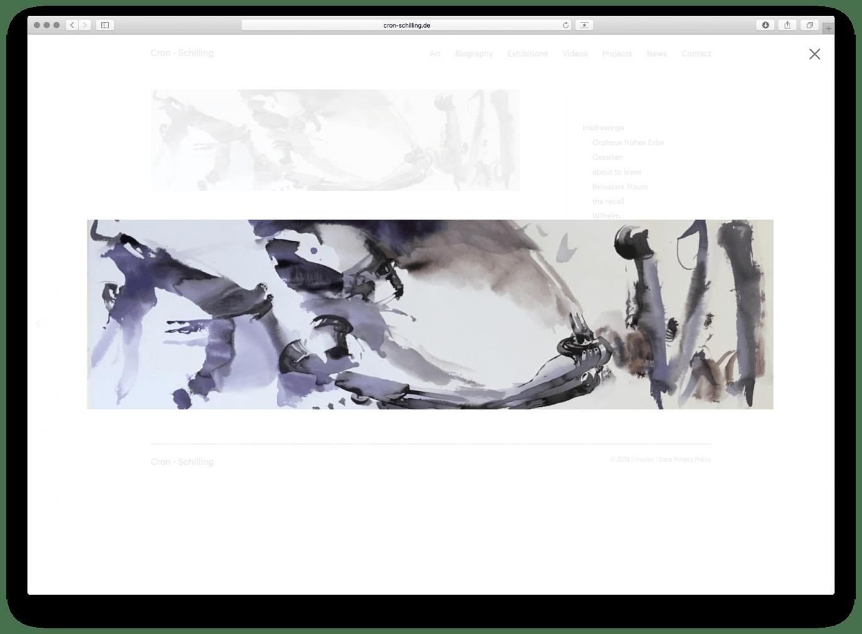 Webdesign | Desktop Ansicht | Künstler | Galerie | Online Design