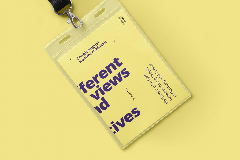 Lanyard Vorderseite, Corporate Design, Konferenzprogramm