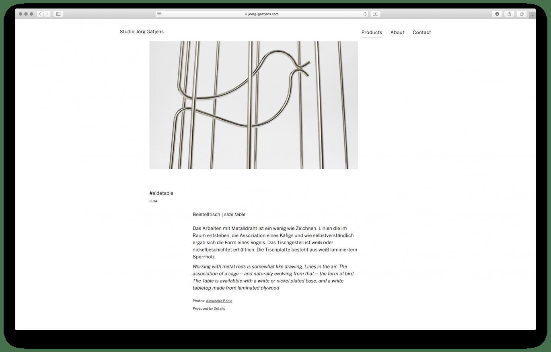Webdesign Desktop | Produktseite | Online Design | Programmierung | digital Design
