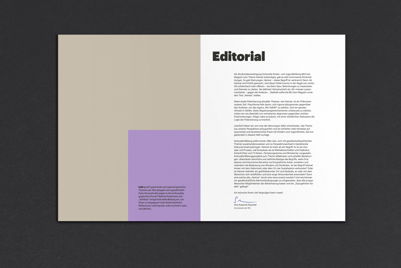 Editorial | Magazin | Format | Flächen Gestaltung | Farbe bekennen