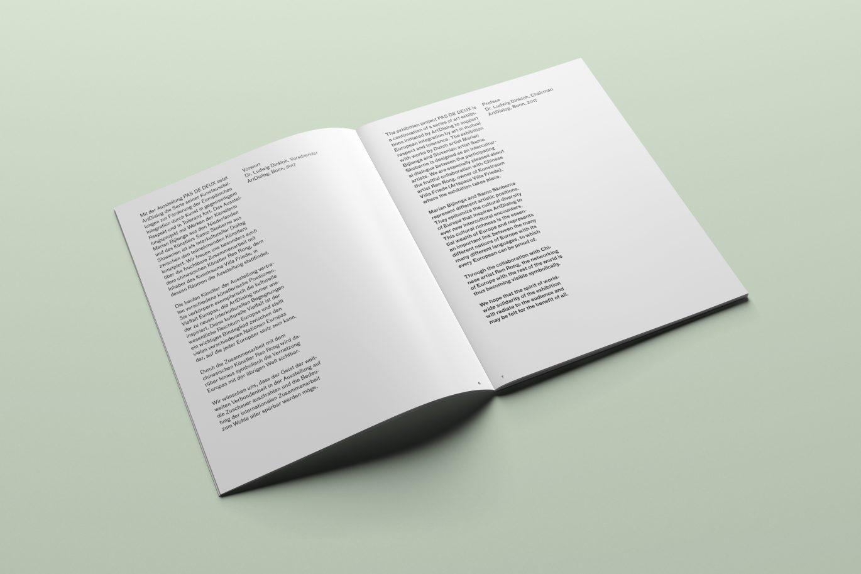 Katalog, Rasteraufbau Fließtext Vorwort
