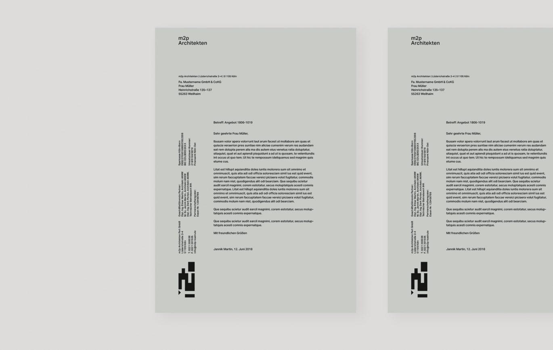 Briefbogen | Geschäftspapiere | Unternehmensgestaltung | Architektur