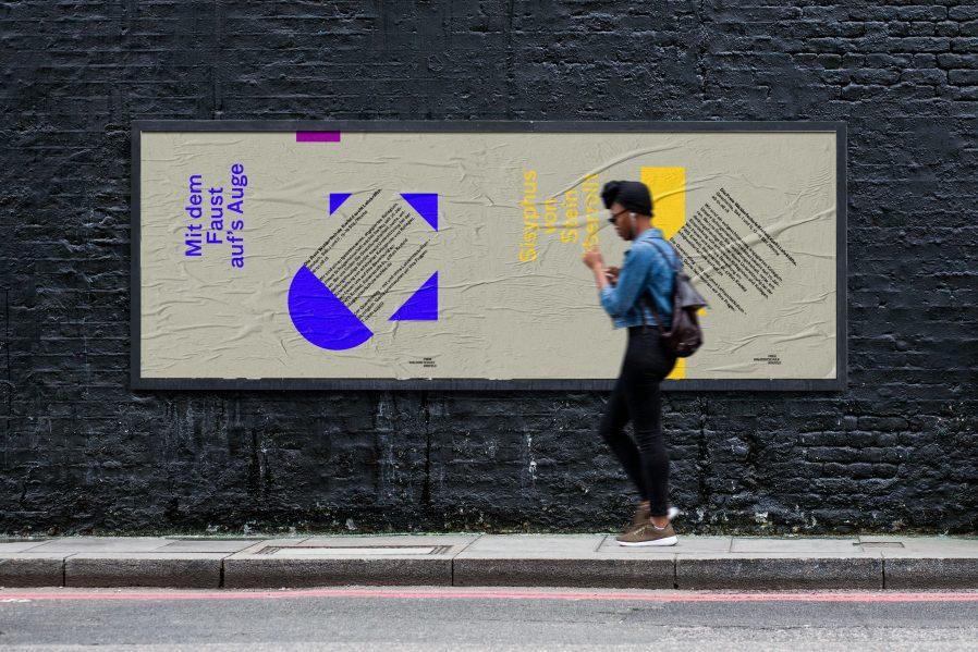 Kampagnenmotive: Mit dem Faust auf's Auge und Sisyphus von Stein überrollt