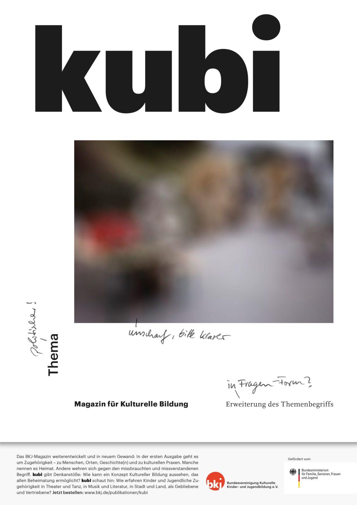 Cover | Titel | Magazin | Handschrift | Umwelt | kulturelle Bildung