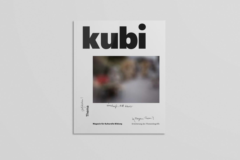 kubi – Magazin für kulturelle Bildung der bkj – Vorabtitel (Cover)