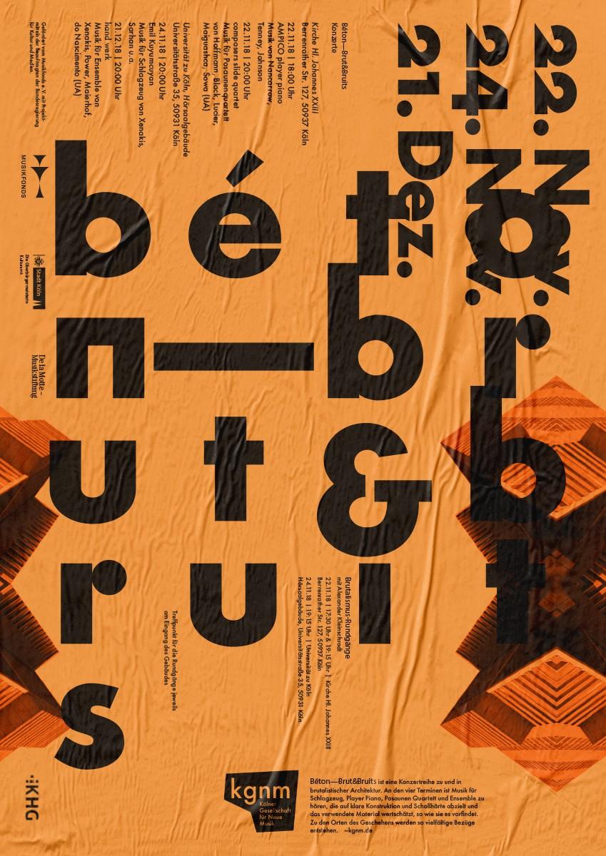 Plakat | Vollansicht | Mikrotypografie | intensive Farbe