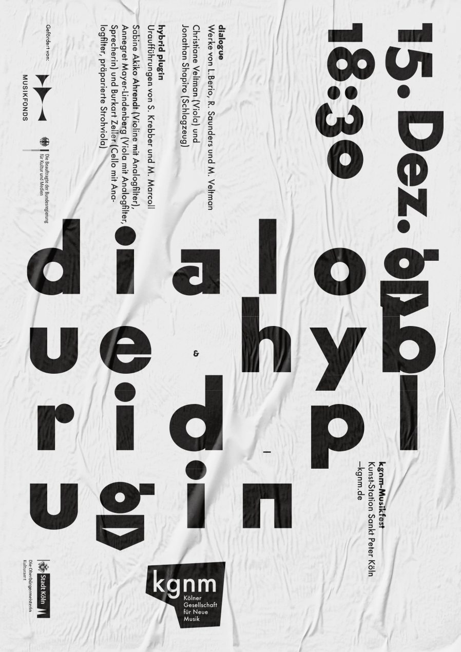 Schriftplakat | Makrotypografie | Poster Design