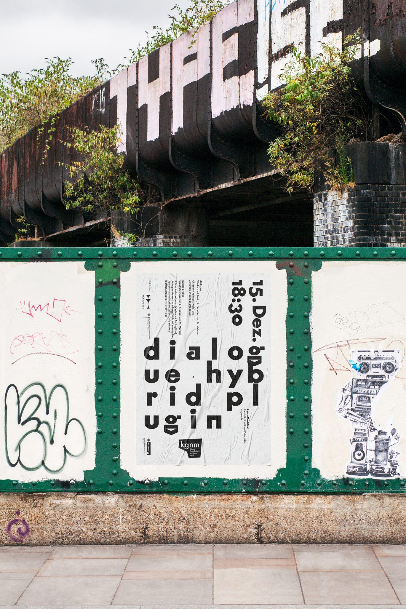 Neue Musik | Makrotypografie | Textbild | Schriftplakat