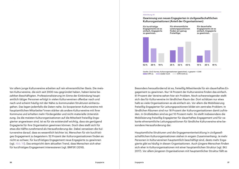 Innenseiten | Infografik | Typografie | Studie | kulturelle Bildung