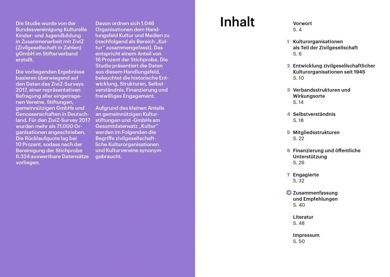 Innenseiten | Layout | Typografie | Inhaltsverzeichnis | kulturelle Bildung