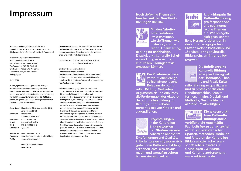 Innenseiten | Layout | Typografie | Anzeige | kulturelle Bildung